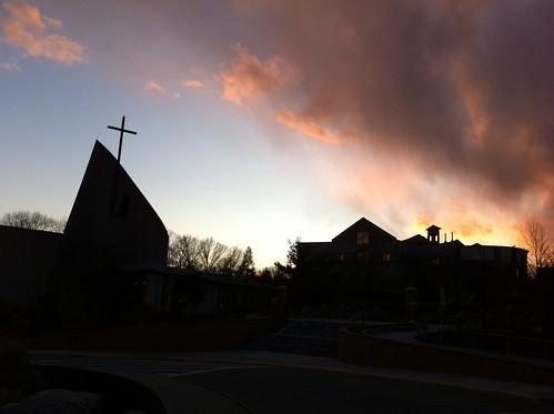 sky silhouette clouds eveningsky steubenville franciscanuniversity novembersky christthekingchapel