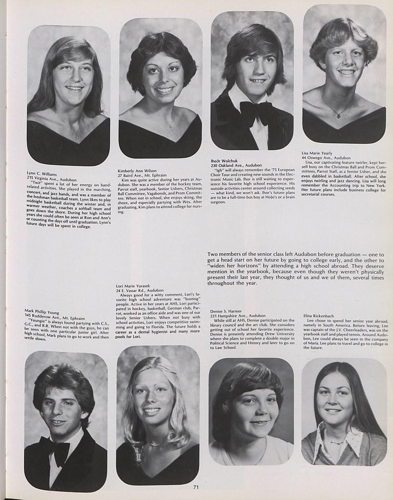 Audubon High School 1978 075 | Lynn C Williams, Kimberly Ann