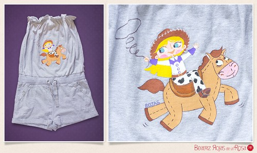 Peto Laia cowgirl  // Laia cowgirl dungaree | by Beatriz Rojas de la Rosa [illustration]