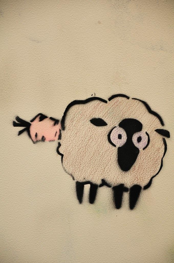 Le mouton et la carotte.