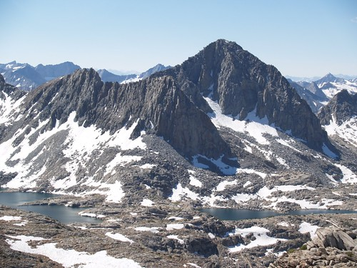 1056 Isosceles Peak and Columbine Peak from Peak 12286 across Dusy Basin | by _JFR_