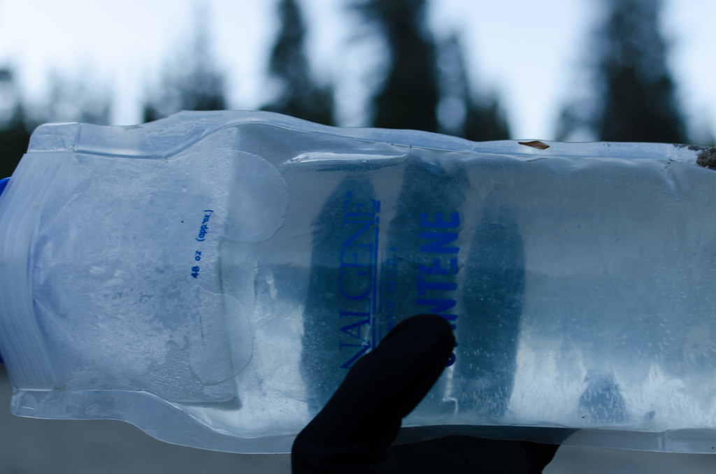 3582fd4575 Frozen Water Bottle | Forgot to move my water into my tent | Dan ...