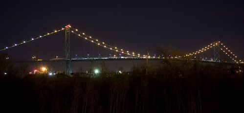 Ambassador Bridge to Windsor Canada (or from Windsor Canada for that matter) | by Barbara Eckstein