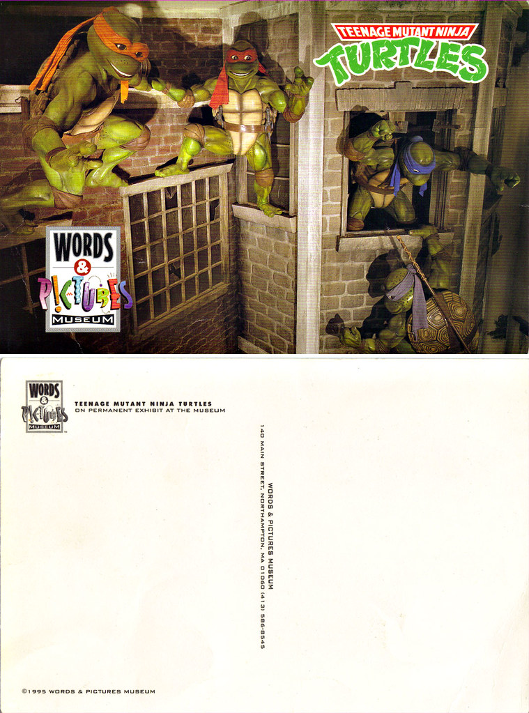 "WORDS & PICTURES MUSEUM: ""TMNT EXHIBIT"" ..postcard (( 1995 )) by tOkKa"