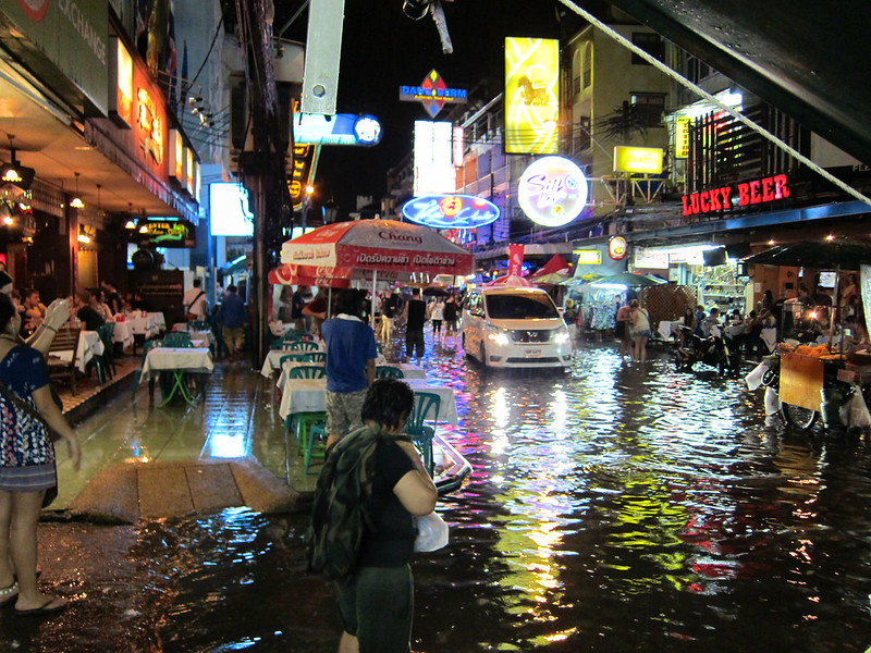 flooded khao san