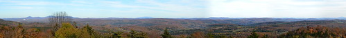 park autumn trees white mountains green tower fall forest fire vermont state panoramic views brookfield vt allis