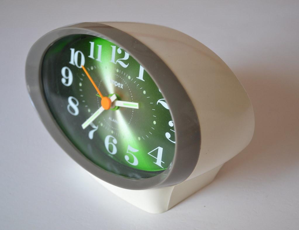 Impex 1970s Alarm Clock, Japan | 66sputnik blogspot com