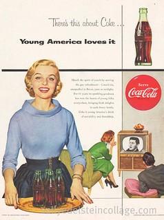Coke Ad- Gay Refreshment 1954