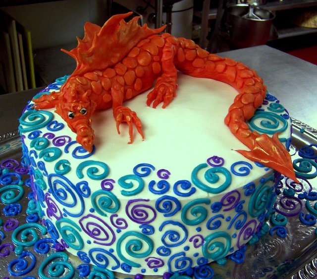 Amazing Dragon Birthday Cake Debord Flickr Personalised Birthday Cards Veneteletsinfo