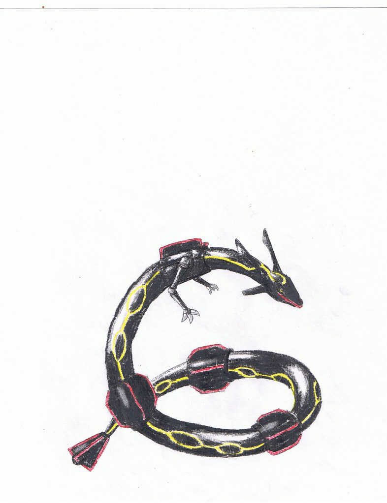 Shiny Rayquaza | My Shiny RayQuaza drawing  It looked better… | Flickr
