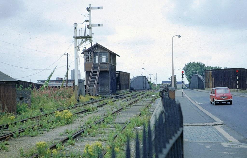 Connaught Road swing bridge, London Docks, in 1971