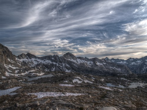0595 Dusy Basin sunset clouds HDR | by _JFR_