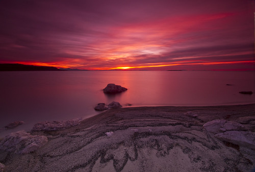 pink sunset reflection beach colors clouds sand antelopeisland utahstatepark nikond90
