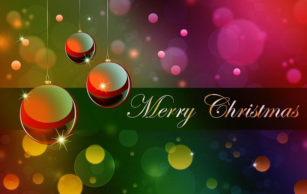 Merry Christmas Rainbow Wallpaper More Christmas Cards Wal
