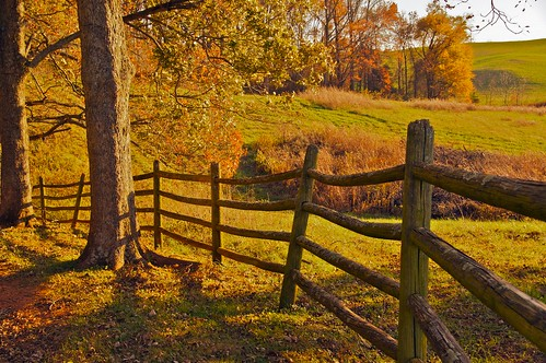 autumn fence virginia farm