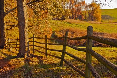 autumn fence virginia farm