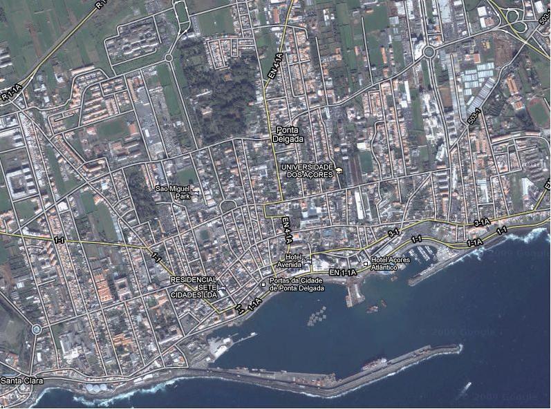 Mapa Satelite Ponta Delgada Foto Satelite Da Cidade De Pon Flickr