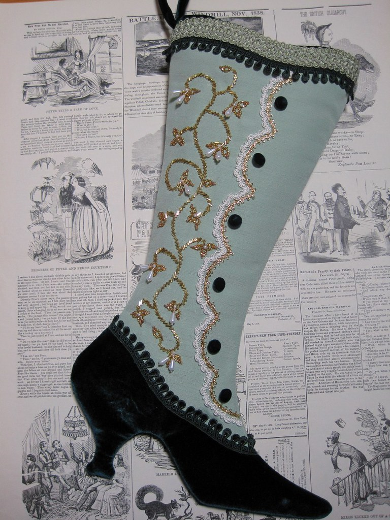 Victorian Christmas Stockings.Victorian Christmas Stocking Sage Lady Sage From The