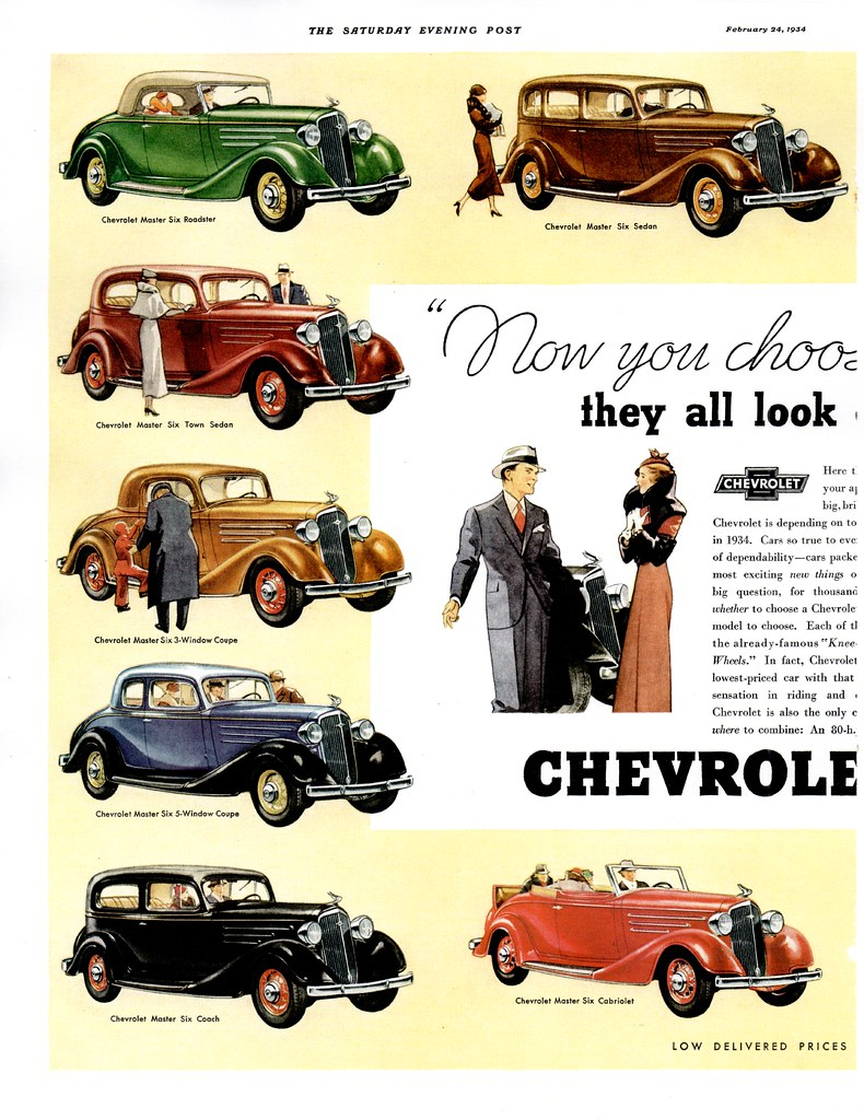 1934 Chevrolet Master Six (USA) p1 | Typical of the Full-Lin