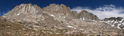 0890 Agassiz, Winchell, Thunderbolt, North Palisade panorama from Dusy Basin | by _JFR_