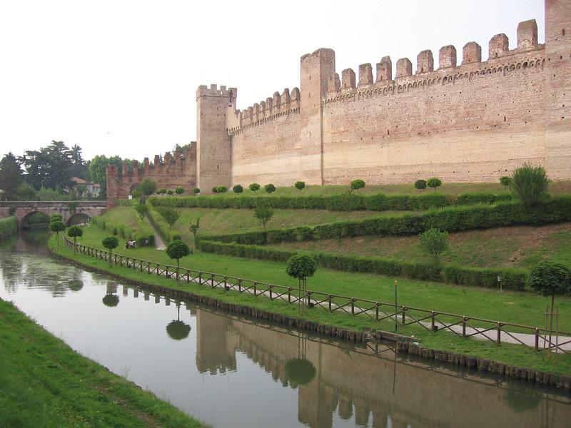 City wall of Cittadella, Italy