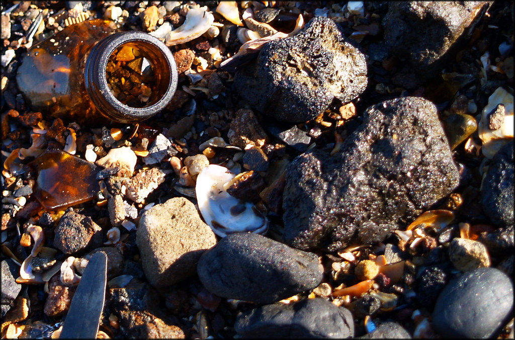 the remnants of a good night washed up at berry island in wollstonecraft, nsw.