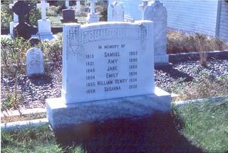 headstone of the Churchill family