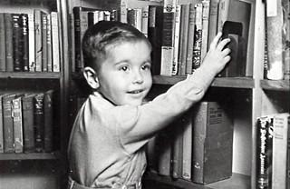 Portrait of Wilson Gamble at Mosman Library, 1947.