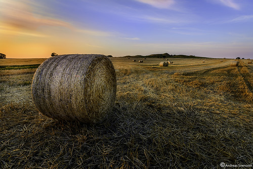 sunset sky art landscape skåne sweden ngc nocrop haybales solnedgång landskap 1424 nikond600 skanecounty