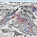 Mapa Dorfgastein Grossarl