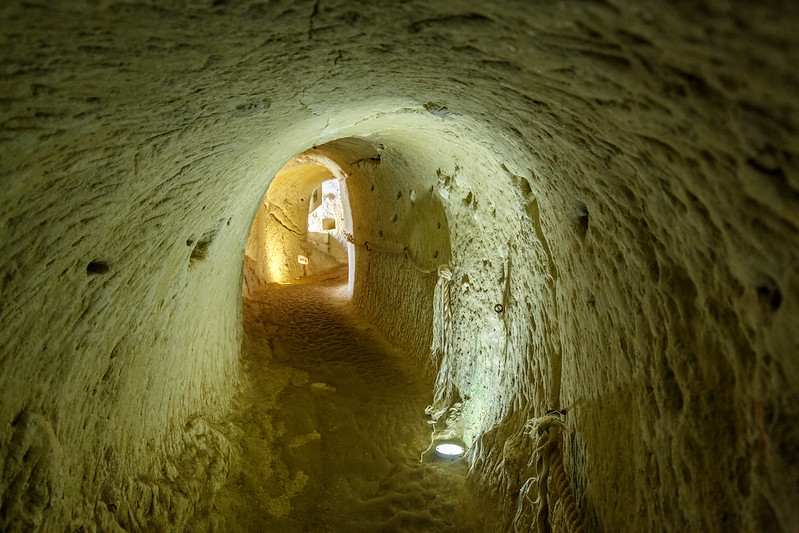 Tunnels beneath the Château de Brézé