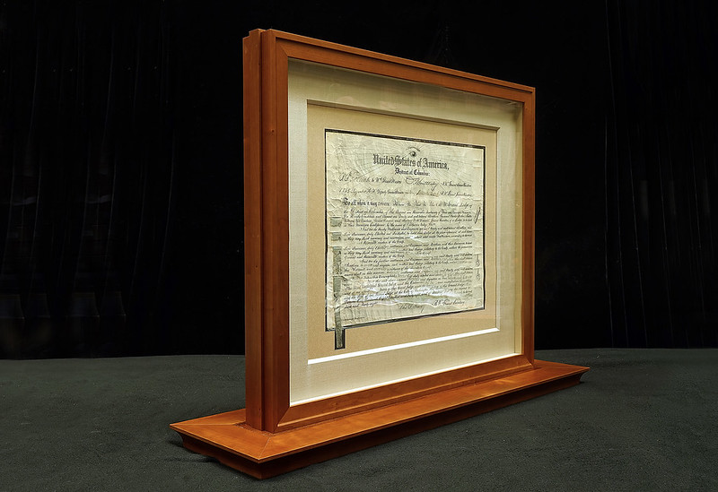 Freemason's of California Lodge #1, original founding document c1850 • two-sided frame