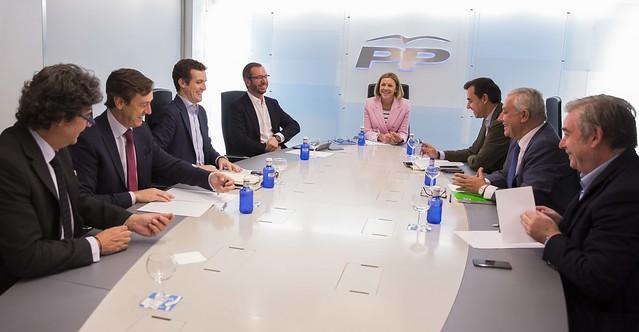 María Dolores de Cospedal preside la reunión del Comité de Dirección del PP