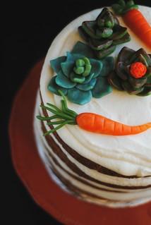 Vegan Carrot Cake + Almond Paste toppers | by Lan | MoreStomachBlog