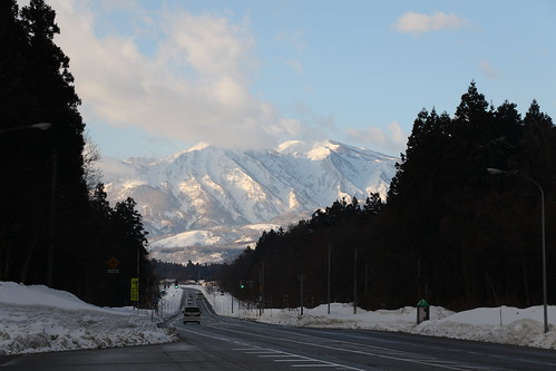 myoko niigata japan road mountains snow peak cloud 妙高市 新潟 妙高山