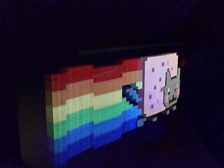 Poptart cat holograph made with 8bitapp hellagraph edition