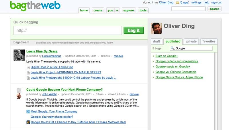 Quick-bagging - BagTheWeb