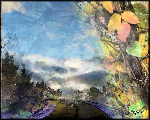 autumn painting landscape coloredleaves musictomyeyeslevel1 digitalmgailpiland