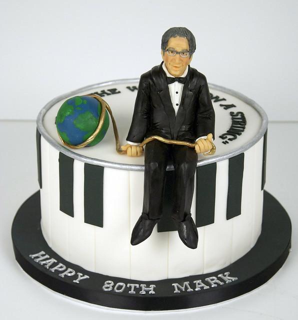 BC4198 - piano 80th birthday cake toronto