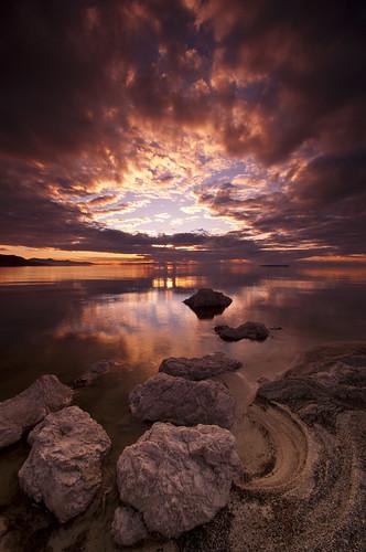 sunset color reflection beach water antelopeisland d90 utahstatepark greatsaltlakenikon