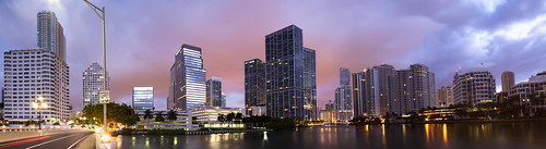 Panorma from  Brickell Key bridge  | 120313-2-jikatu | by jikatu