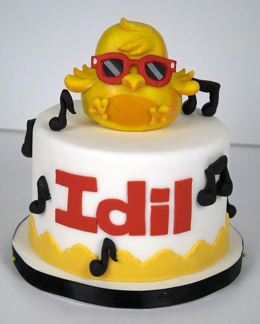 BC4058 - dj quack birthday cake toronto