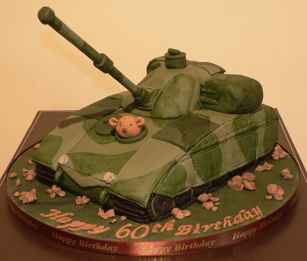 Fantastic Tank Birthday Cake Jacky Nixon Flickr Funny Birthday Cards Online Elaedamsfinfo