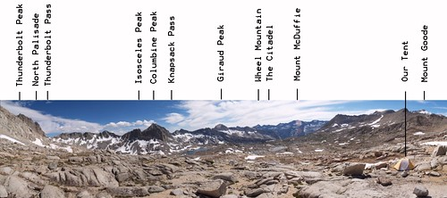 0914 Dusy Basin annotated panorama from below Mount Agassiz | by _JFR_