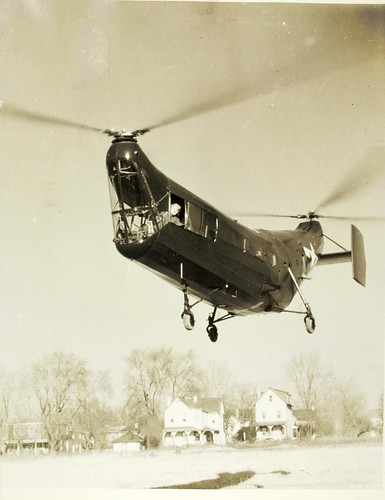 HRP-1 Winter 1947, FN Piasecki at controls NHHS Photo | by San Diego Air & Space Museum Archives