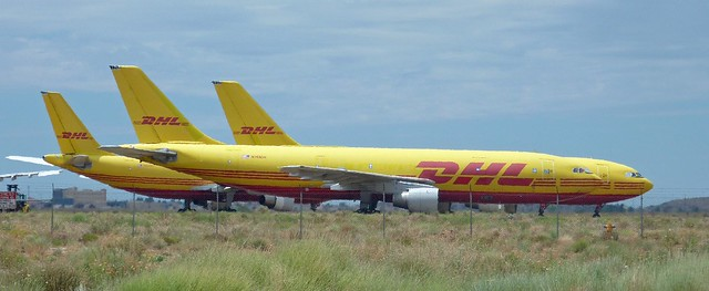 DHL Freighters grounded in Kingman
