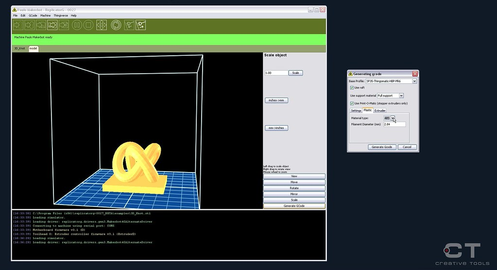MakerBot - Replicator G - Screenshot010 | Creative Tools | Flickr