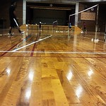 バドミントン練習しているが今日は人数が少ないなぁ。 Taken with picplz at 兼城中学校 in Nihonmatsu City, Japan.