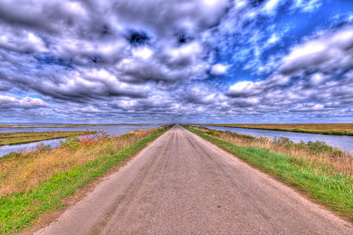 new blue sky sun green grass clouds ed drive back nikon skies nj jersey brigantine hdr forsythe afs forsythenwr f28g forsythenationalwildliferefuge d3x oceanville 1424mm nikond3x ©brianekushner nikon1424mmf28gedafs