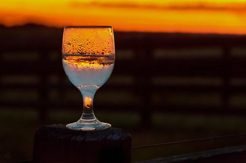 athens wedding colbert georgia tuckerplantation dripping farm glass goblet orange blue fence glowing glowinggoblet post reflection refraction nikkor18200mmvriidx fav10 fav20
